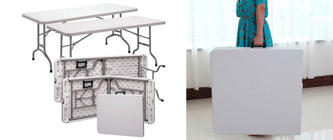 beneficios de una mesa maleta plegable