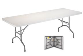 mesa plegable maleta blanca
