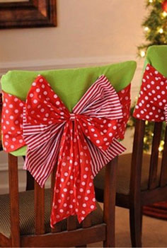 Decoraci n de sillas para navidad - Adornos navidenos para sillas ...