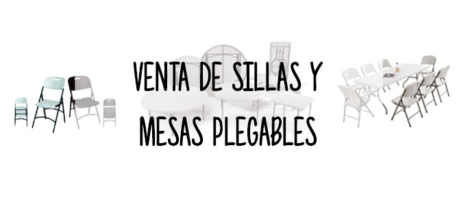 Venta de sillas y mesas plegables de pl stico for Sillas y mesas plegables