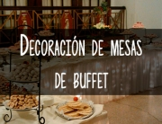 decoración de mesas de buffet