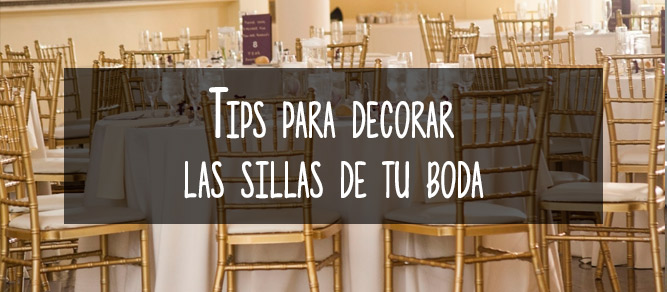 como decorar sillas boda