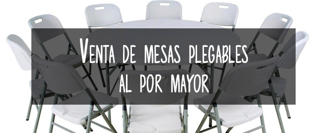 venta mesas plegables por mayor