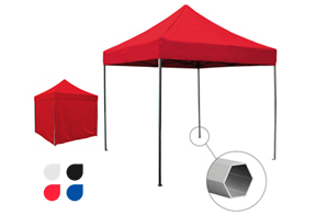 carpa plegable de color rojo