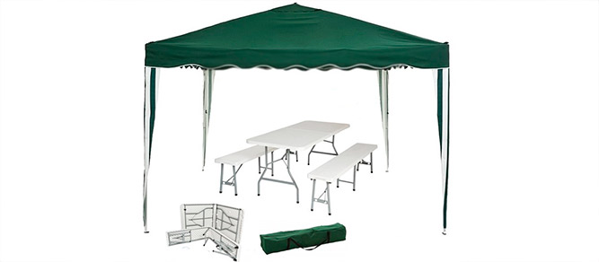 carpa plegable camping